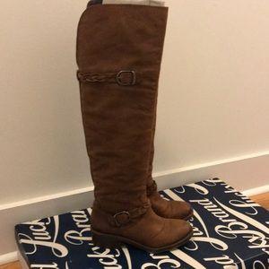 Chestnut lucky brand tall boots